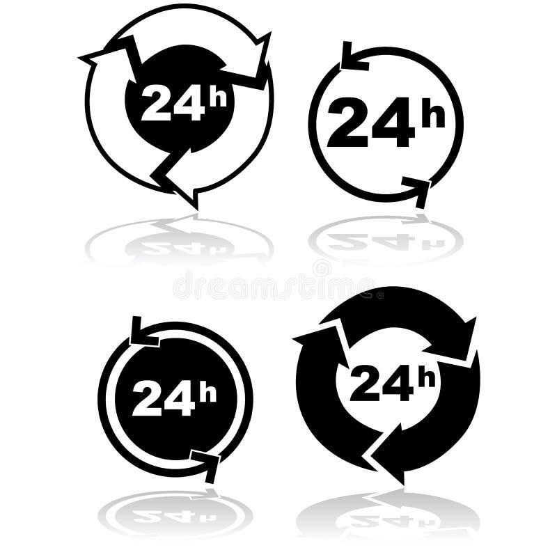κύκλος ρολογιών ελεύθερη απεικόνιση δικαιώματος