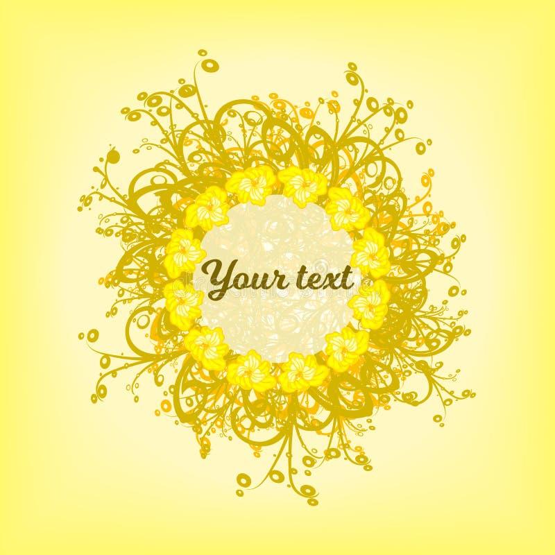 Κύκλος των κίτρινων σχεδίων υποβάθρου στοκ φωτογραφίες
