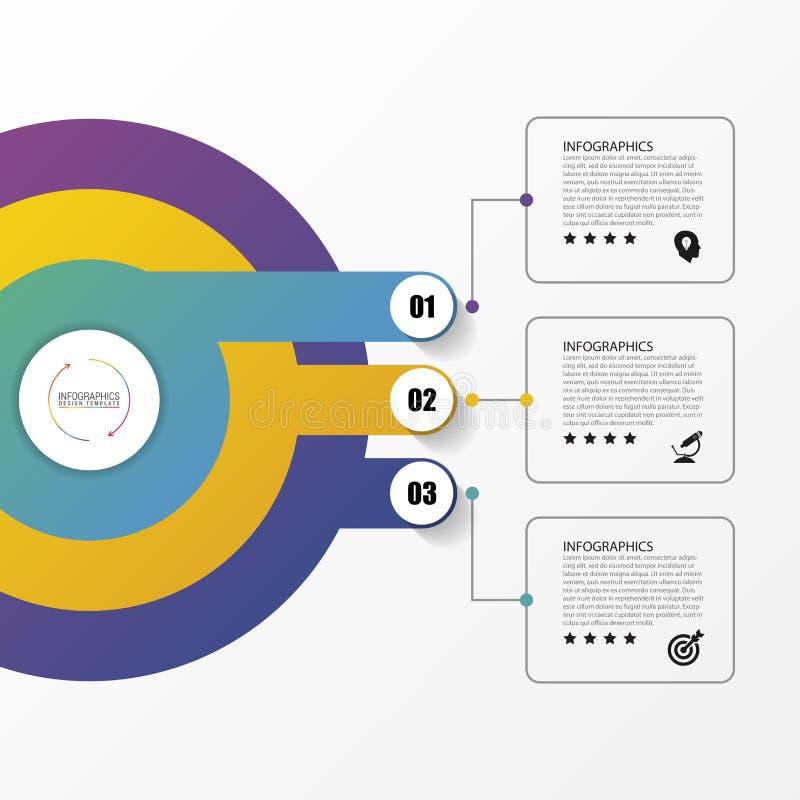 Κύκλος Infographics Πρότυπο για το διάγραμμα επίσης corel σύρετε το διάνυσμα απεικόνισης διανυσματική απεικόνιση