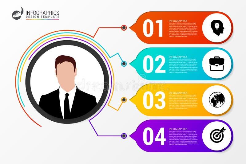 Κύκλος Infographics Πρότυπο για το διάγραμμα επίσης corel σύρετε το διάνυσμα απεικόνισης απεικόνιση αποθεμάτων