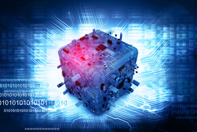 κύκλωμα χαρτονιών ηλεκτρονικό διανυσματική απεικόνιση