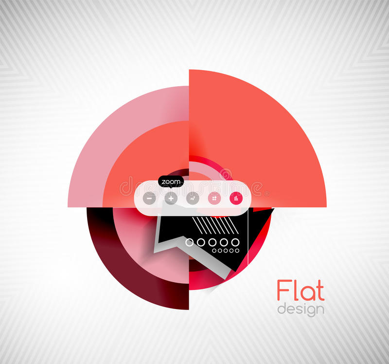 Κύκλων γεωμετρικό σχέδιο διεπαφών μορφών επίπεδο ελεύθερη απεικόνιση δικαιώματος