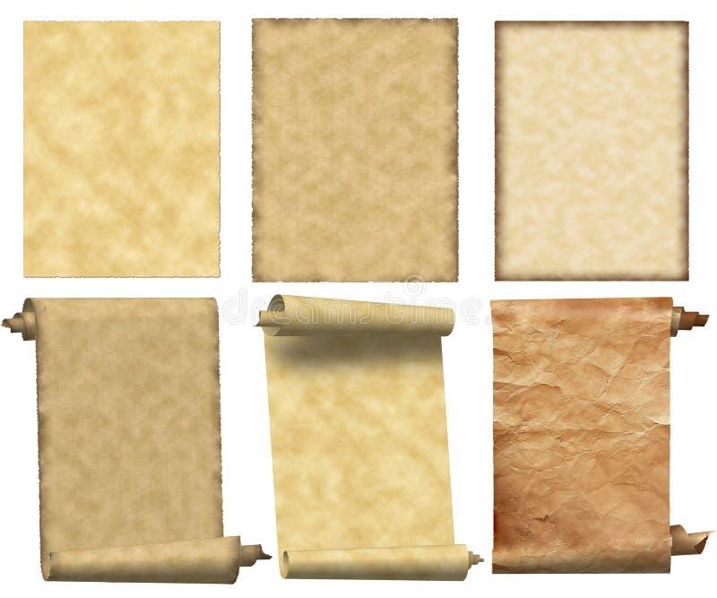 κύλινδροι εγγράφων που τί& διανυσματική απεικόνιση