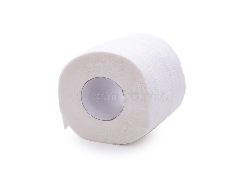 Κύλινδρος μαλακού χαρτιού τουαλέτας απομονωμένου σε λευκό φόντο στοκ φωτογραφίες με δικαίωμα ελεύθερης χρήσης