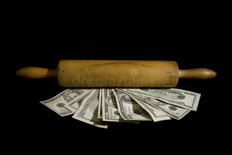 κύλισμα χρημάτων στοκ εικόνα με δικαίωμα ελεύθερης χρήσης