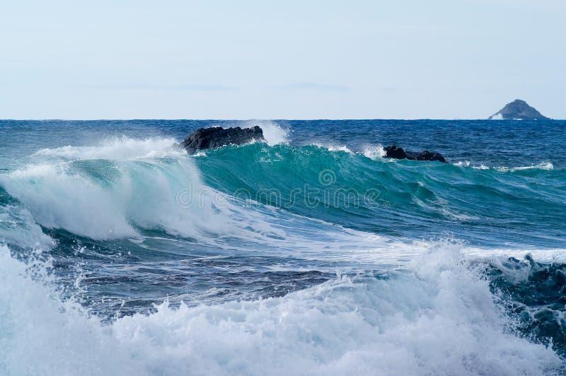 Κύματα θάλασσας στοκ εικόνες με δικαίωμα ελεύθερης χρήσης