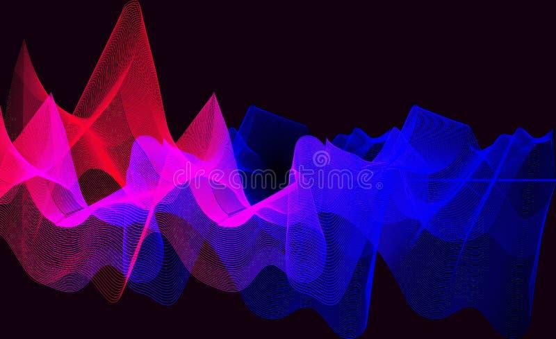 Download Κύματα κλίσης υποβάθρου απεικόνιση αποθεμάτων. εικονογραφία από κύματα - 62711376