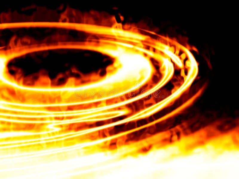 Κύματα της υγρής πυρκαγιάς απεικόνιση αποθεμάτων