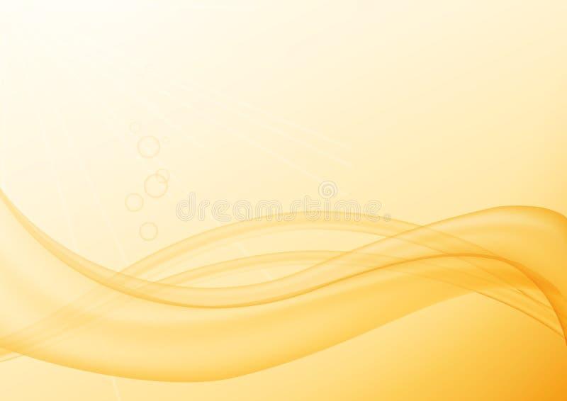 κύμα κίτρινο ελεύθερη απεικόνιση δικαιώματος