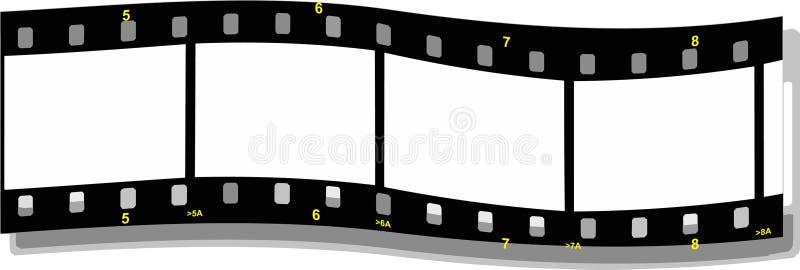 κύμα λουρίδων ταινιών διανυσματική απεικόνιση