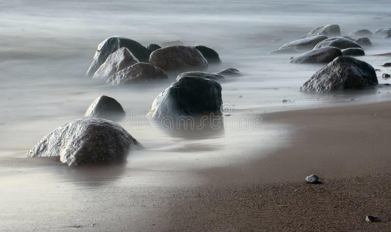 κύμα πετρών άμμου εισροής στοκ φωτογραφία