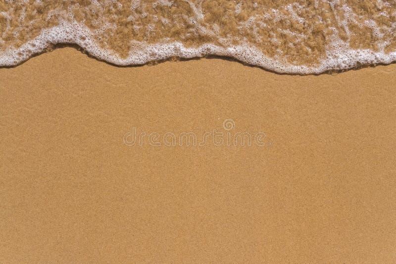 Κύμα στο υπόβαθρο παραλιών άμμου στοκ εικόνες με δικαίωμα ελεύθερης χρήσης