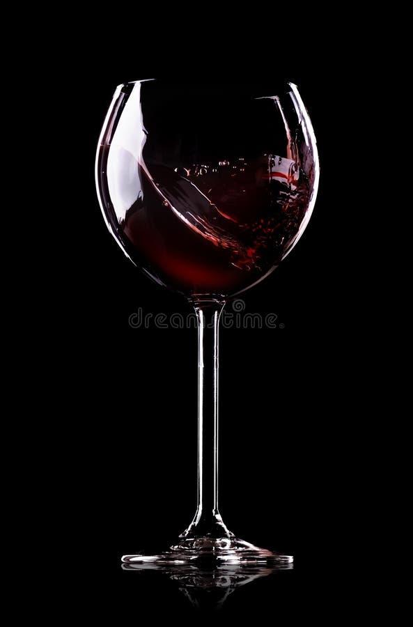 Κύμα του κρασιού wineglass στοκ φωτογραφία