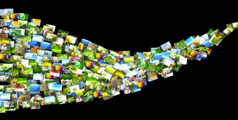 κύμα φωτογραφιών απεικόνιση αποθεμάτων