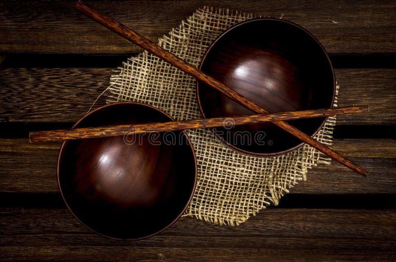 κύπελλα ξύλινα στοκ φωτογραφία