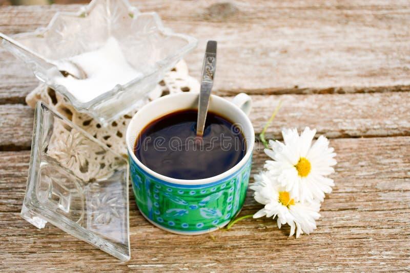Κύπελλο ζάχαρης και coffe στοκ εικόνες