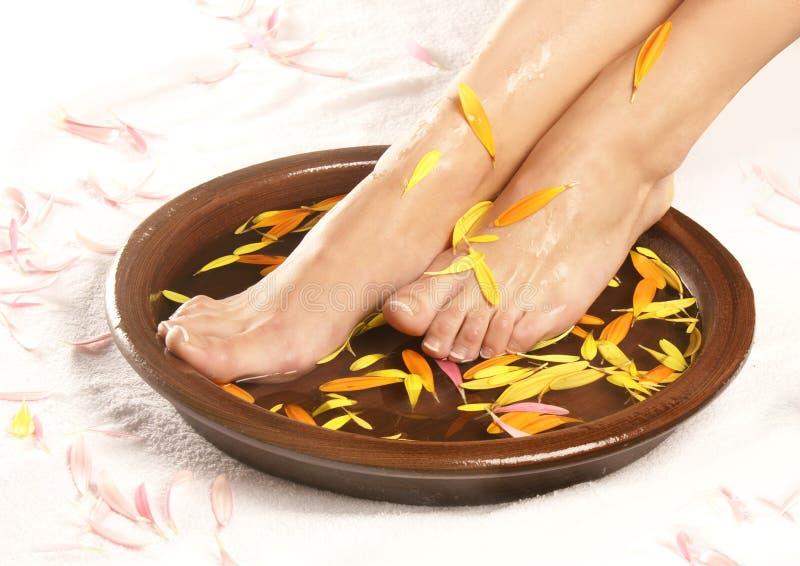 κύπελλο composition feet female spa στοκ εικόνες