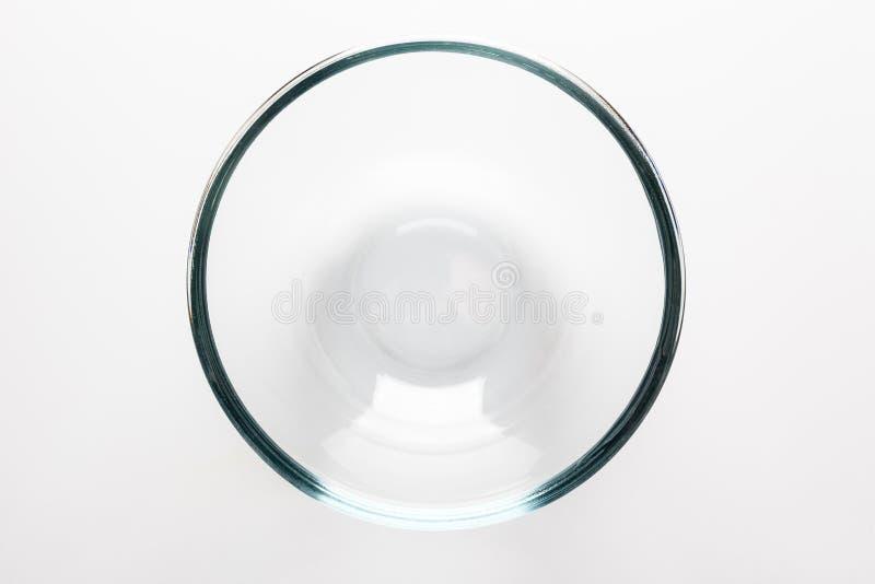 Κύπελλο γυαλιού άμεσα άνωθεν στοκ φωτογραφία με δικαίωμα ελεύθερης χρήσης