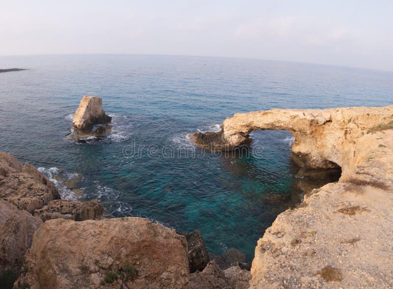 Κύπρος Βράχοι Seaview στοκ φωτογραφία με δικαίωμα ελεύθερης χρήσης