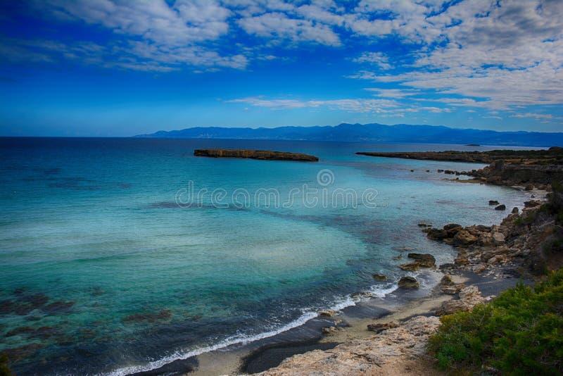 Κύπρος, Akamas, μπλε λιμνοθάλασσα στοκ φωτογραφία
