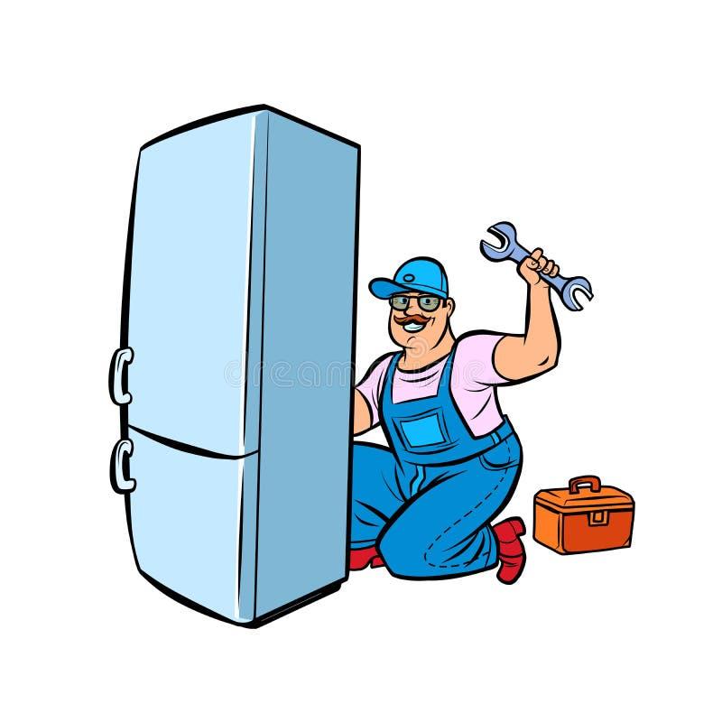 Κύρια επισκευή ψυγείων ελεύθερη απεικόνιση δικαιώματος