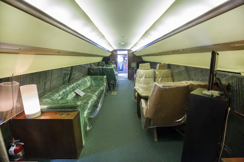 Κύρια περιοχή καμπινών αεροπλάνων της Lisa Marie του εσωτερικού Elvis Presley στοκ εικόνες με δικαίωμα ελεύθερης χρήσης