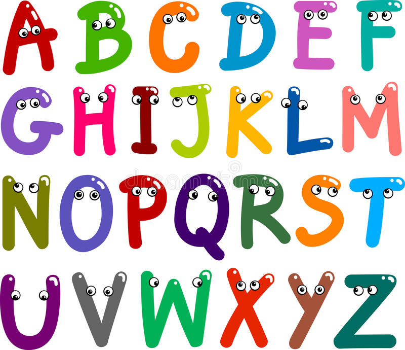 κύριες αστείες επιστολές αλφάβητου ελεύθερη απεικόνιση δικαιώματος