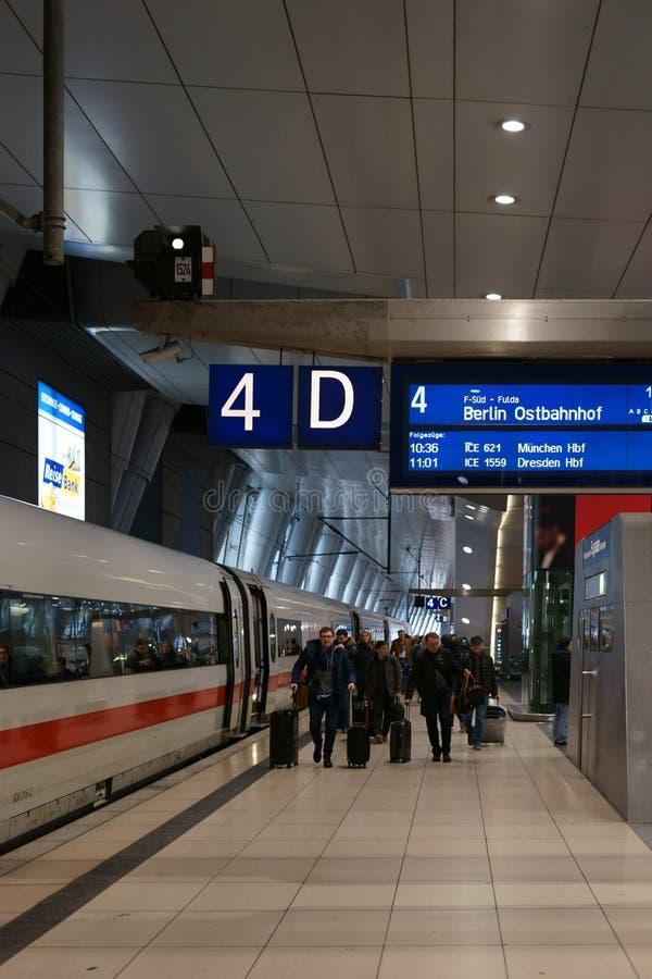 Κύριος αερολιμένας της Φρανκφούρτης σταθμών τρένου στοκ φωτογραφίες με δικαίωμα ελεύθερης χρήσης