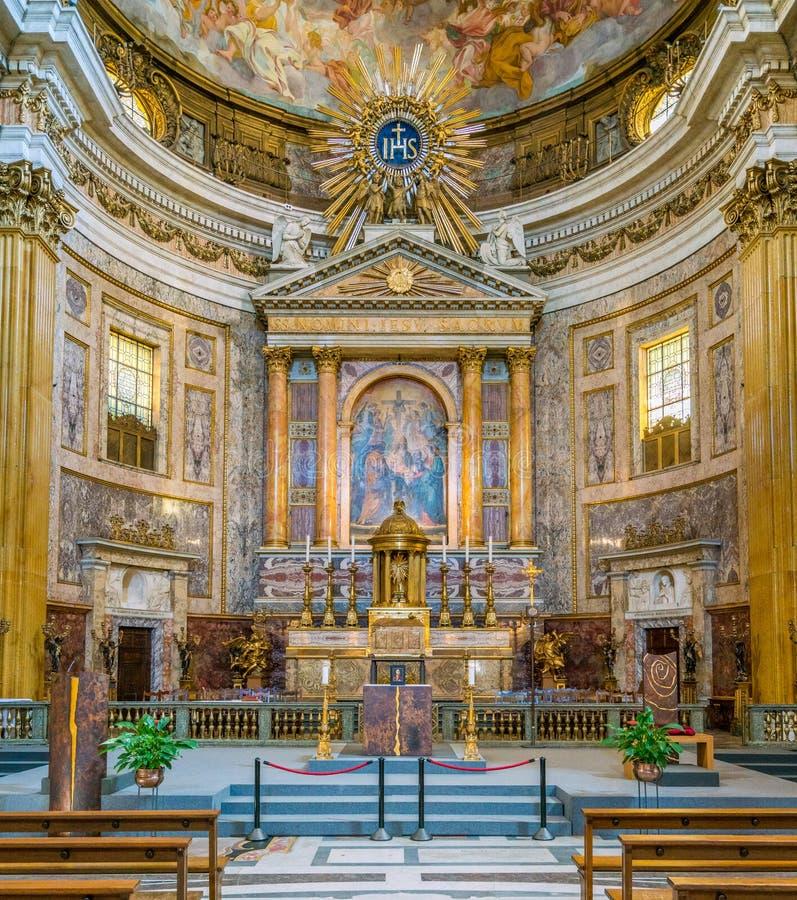 Κύριος βωμός στην εκκλησία του Ιησού στη Ρώμη, Ιταλία στοκ φωτογραφία με δικαίωμα ελεύθερης χρήσης
