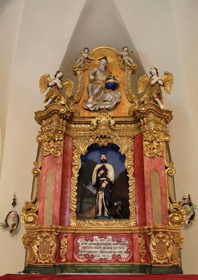 Κύριος βωμός στο παρεκκλησι Αγίου Roch, Ζάγκρεμπ στοκ εικόνες