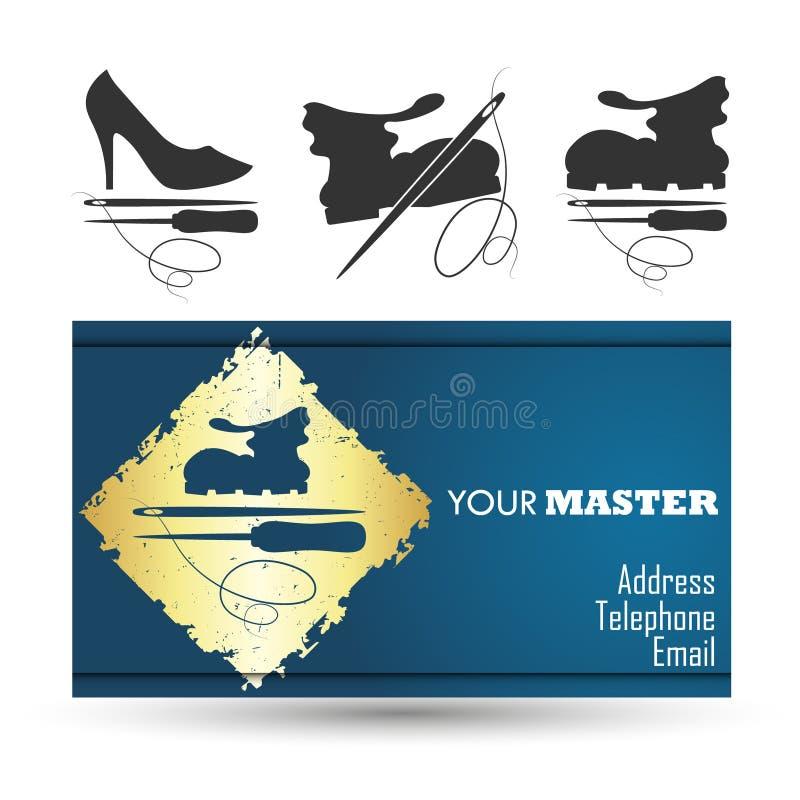 Κύριος επαγγελματικών καρτών επισκευής παπουτσιών ελεύθερη απεικόνιση δικαιώματος