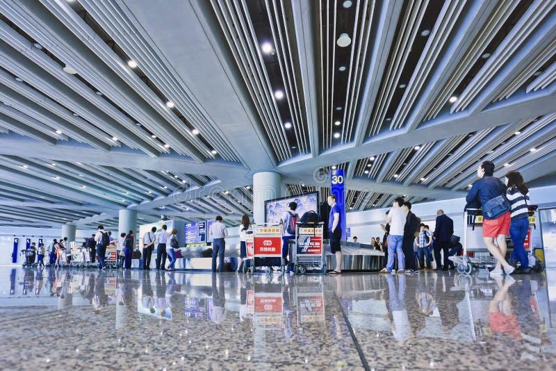Κύριος διεθνής αερολιμένας του Πεκίνου περιοχής αξίωσης αποσκευών στοκ φωτογραφία