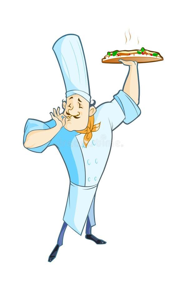 κύριος μάγειρας διανυσματική απεικόνιση