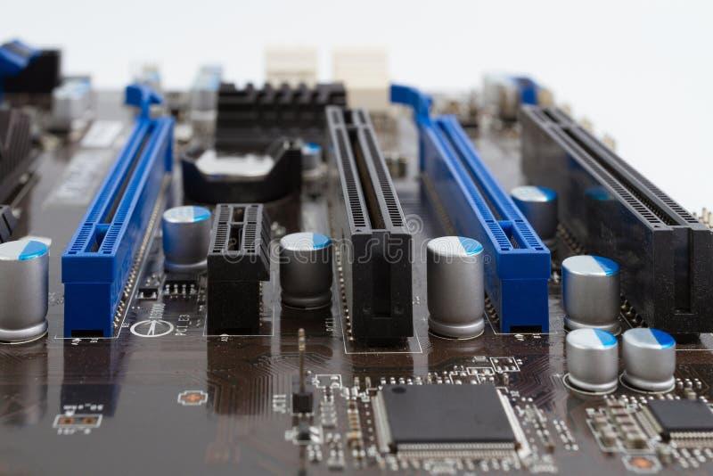Κύριος πίνακας κυκλωμάτων υπολογιστών ηλεκτρονικός στοκ φωτογραφίες