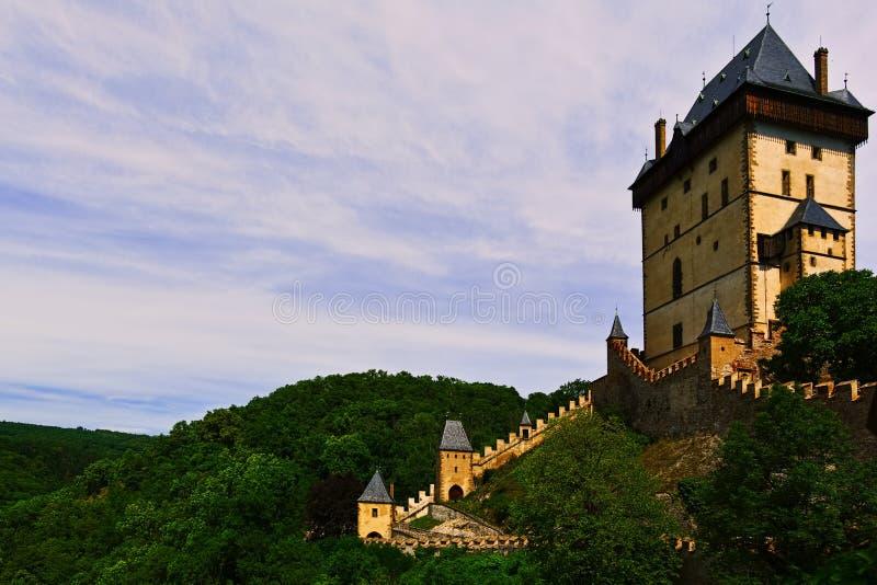 Κύριος πύργος που καλεί donjon του βασιλικού κάστρου Karlstein στοκ φωτογραφία