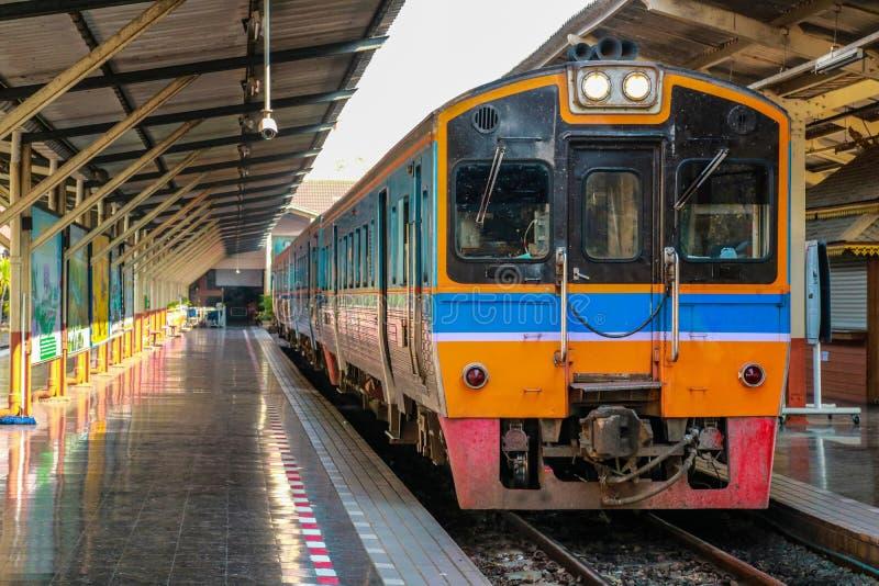 Κύριος σιδηροδρομικός σταθμός στην επαρχία Chiang Mai στοκ εικόνα