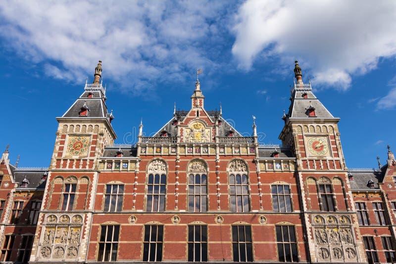 Κύριος σταθμός του Άμστερνταμ στοκ εικόνα με δικαίωμα ελεύθερης χρήσης