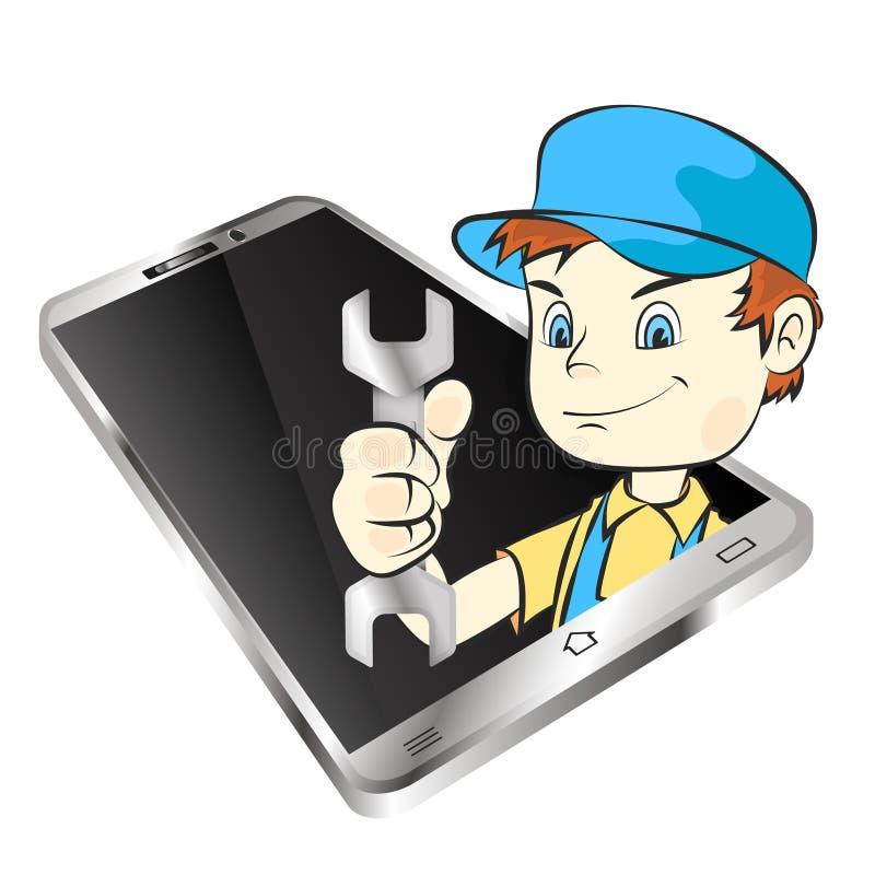Κύριος της επισκευής smartphones απεικόνιση αποθεμάτων