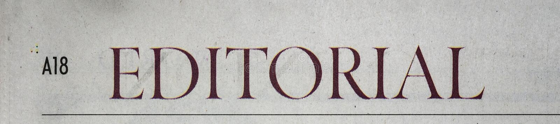 Κύριο άρθρο εφημερίδων στοκ εικόνα