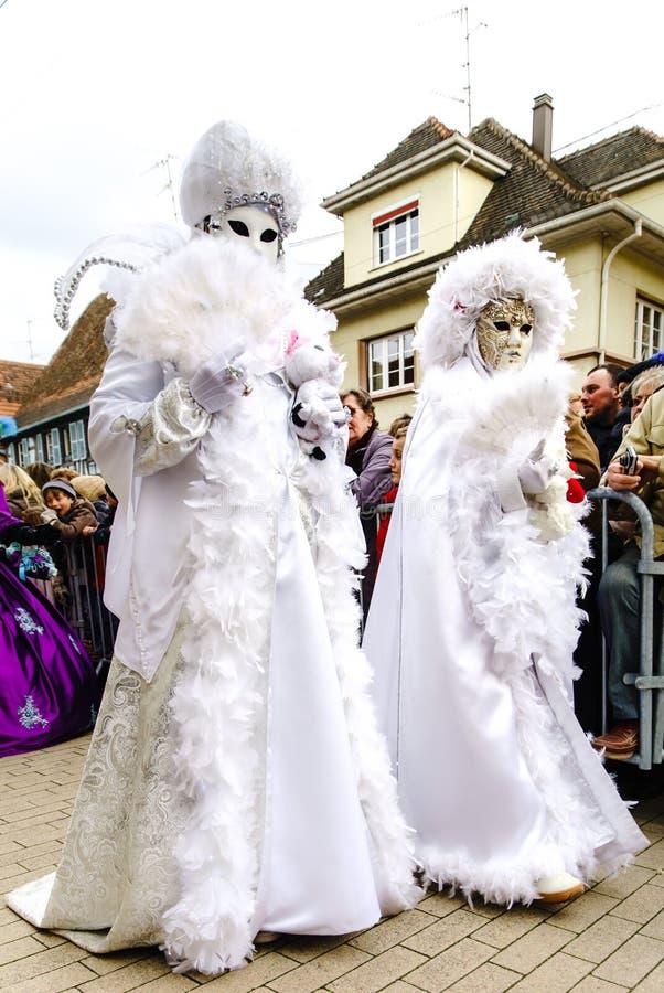 Κύριο άρθρο, στις 6 Μαρτίου 2016: Rosheim, Γαλλία: Ενετική μάσκα καρναβαλιού στοκ εικόνες