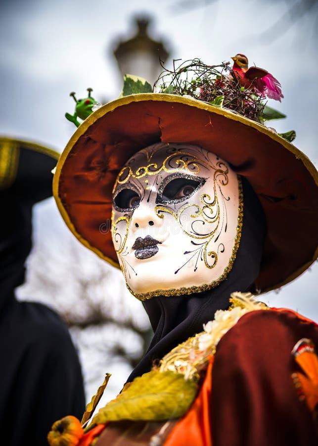 Κύριο άρθρο, στις 4 Μαρτίου 2017: Rosheim, Γαλλία: Ενετική μάσκα καρναβαλιού στοκ φωτογραφία με δικαίωμα ελεύθερης χρήσης