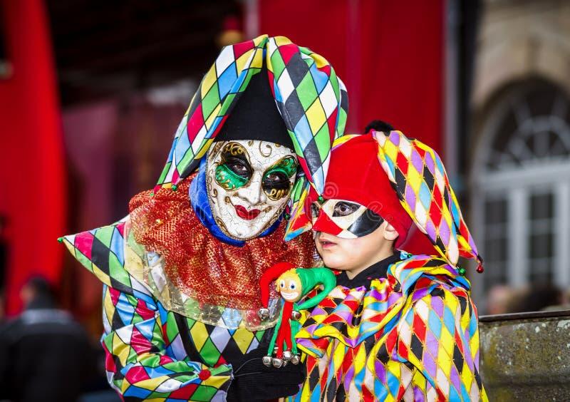 Κύριο άρθρο, στις 4 Μαρτίου 2017: Rosheim, Γαλλία: Ενετική μάσκα καρναβαλιού στοκ εικόνες
