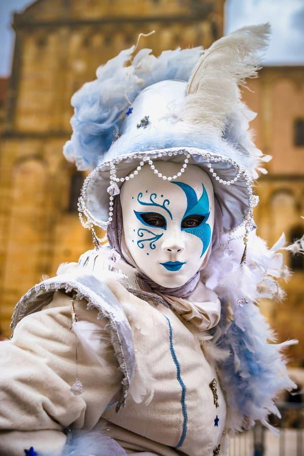 Κύριο άρθρο, στις 4 Μαρτίου 2017: Rosheim, Γαλλία: Ενετική μάσκα καρναβαλιού στοκ φωτογραφίες