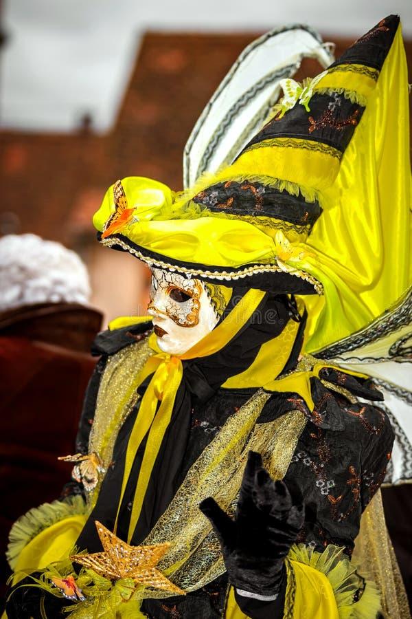 Κύριο άρθρο, στις 4 Μαρτίου 2017: Rosheim, Γαλλία: Ενετική μάσκα καρναβαλιού στοκ φωτογραφίες με δικαίωμα ελεύθερης χρήσης