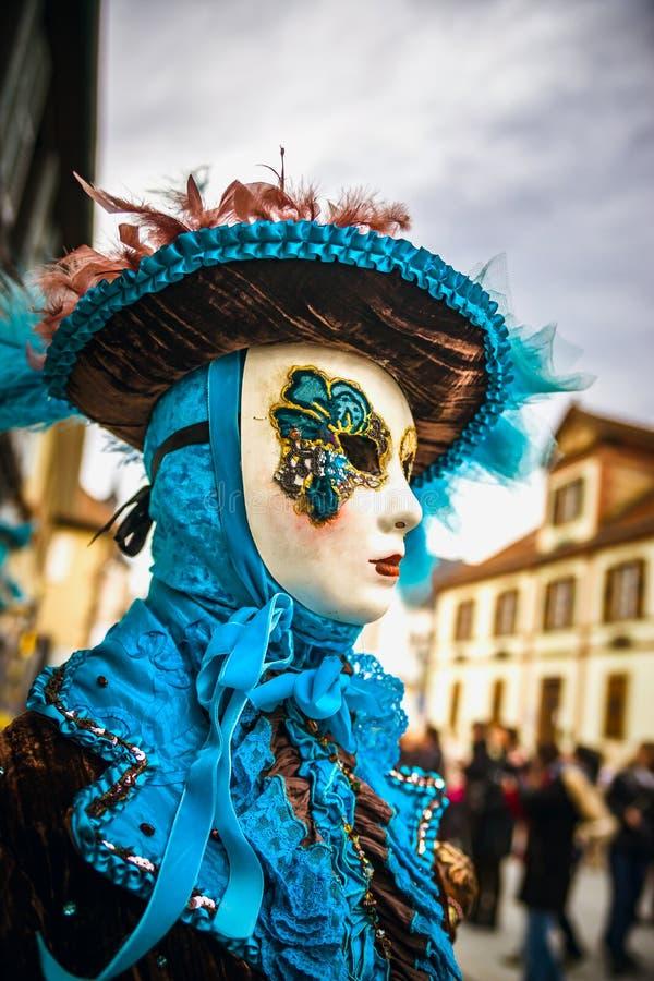 Κύριο άρθρο, στις 4 Μαρτίου 2017: Rosheim, Γαλλία: Ενετική μάσκα καρναβαλιού στοκ εικόνες με δικαίωμα ελεύθερης χρήσης