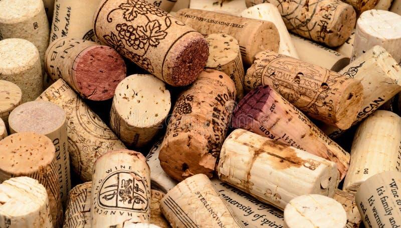 Κύριο άρθρο υποβάθρου φελλού κρασιού στοκ φωτογραφίες