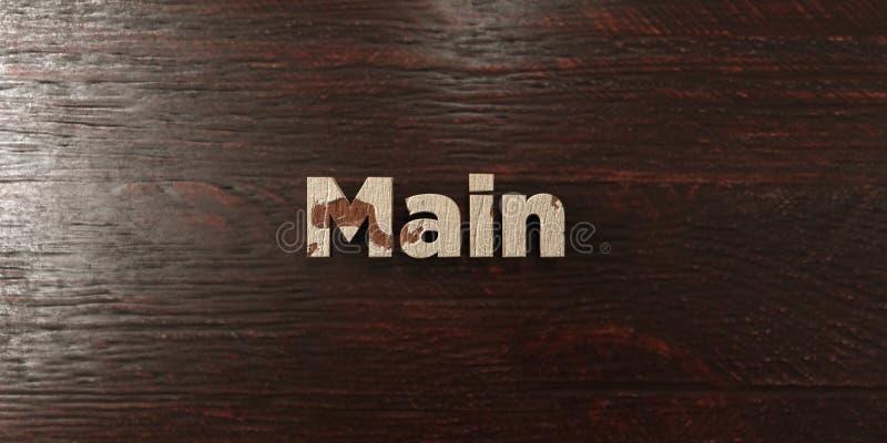 Κύριο - βρώμικος ξύλινος τίτλος στο σφένδαμνο - τρισδιάστατο δικαίωμα ελεύθερη εικόνα αποθεμάτων ελεύθερη απεικόνιση δικαιώματος