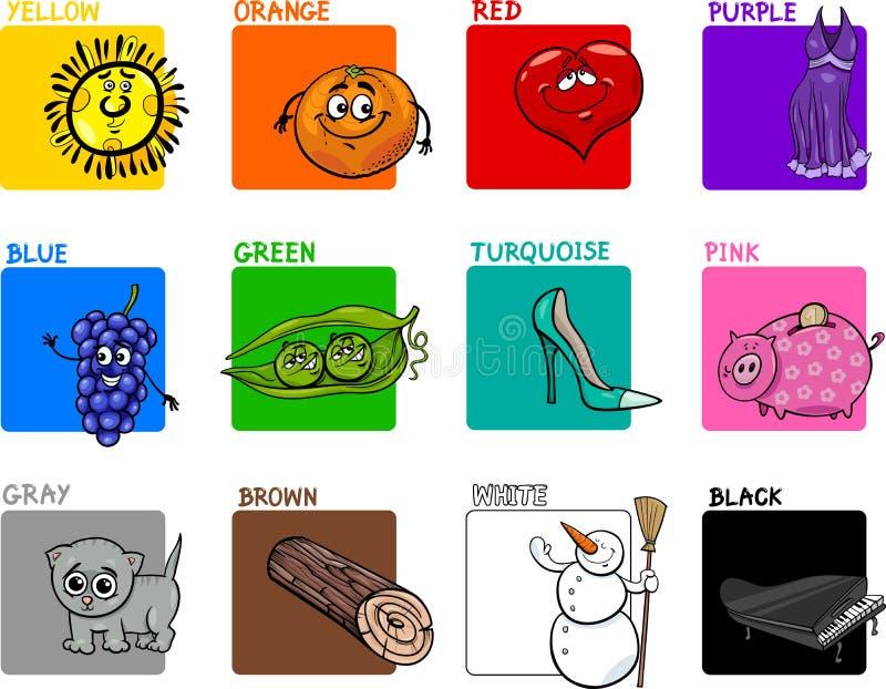 Κύριο εκπαιδευτικό σύνολο χρωμάτων διανυσματική απεικόνιση
