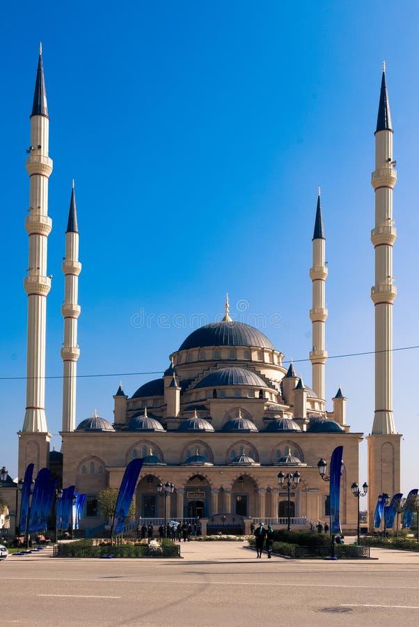 Κύριο μουσουλμανικό τέμενος της τσετσένιας Δημοκρατίας στοκ φωτογραφία