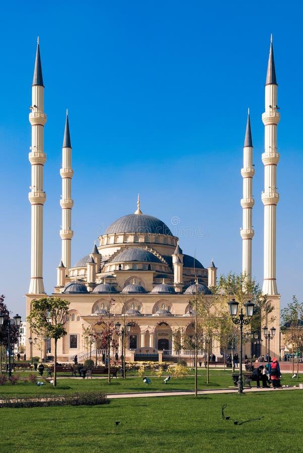 Κύριο μουσουλμανικό τέμενος του Γκρόζνυ, Ρωσία στοκ εικόνα